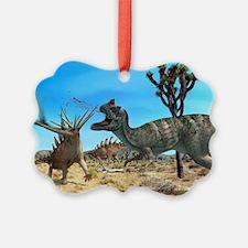 Ceratosaurus and Dacentrurus, art Ornament