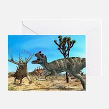 Ceratosaurus and Dacentrurus, artwor Greeting Card
