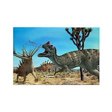 Ceratosaurus and Dacentrurus, art Rectangle Magnet