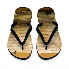 Dead Sea scroll Flip Flops