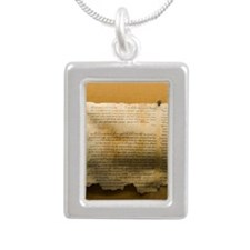 Dead Sea scroll Silver Portrait Necklace