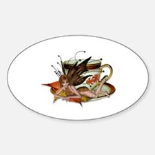 AUTUMN Teacup Fairy Oval Decal