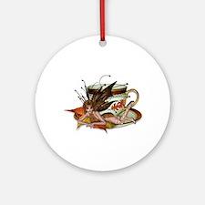 AUTUMN Teacup Fairy Ornament (Round)