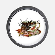 AUTUMN Teacup Fairy Wall Clock