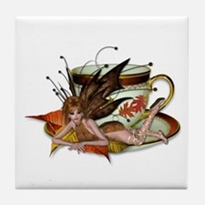 AUTUMN Teacup Fairy Tile Coaster