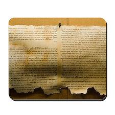 Dead Sea scroll Mousepad