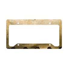 Dead Sea scroll License Plate Holder