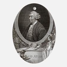 David Hume, Scottish philosopher Oval Ornament