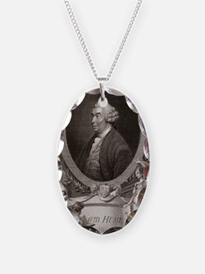 David Hume, Scottish philosoph Necklace Oval Charm