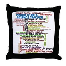 Proud Science Teacher Throw Pillow