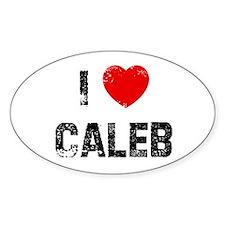 I * Caleb Oval Decal