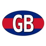 GB Colors Oval Sticker