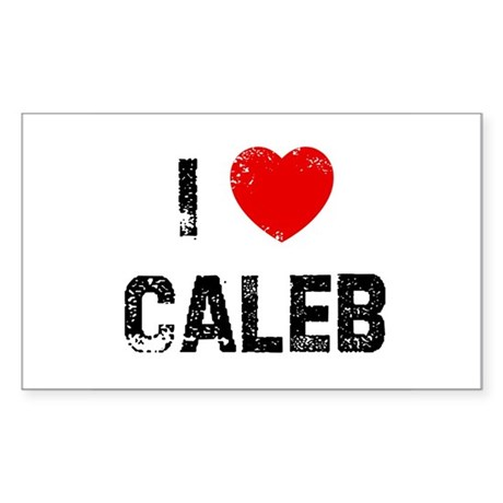 I * Caleb Rectangle Sticker