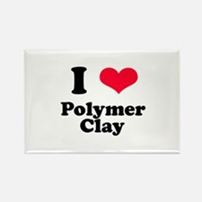 I Love Polymer Clay Rectangle Magnet
