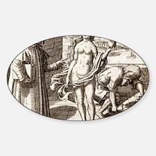 Democritus, Greek philosopher Decal