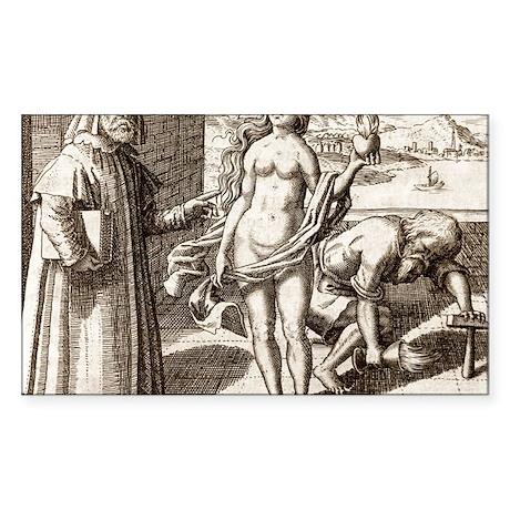 Democritus, Greek philosopher Sticker (Rectangle)