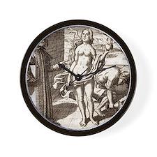 Democritus, Greek philosopher Wall Clock