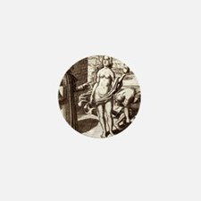 Democritus, Greek philosopher Mini Button