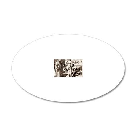 Democritus, Greek philosophe 20x12 Oval Wall Decal