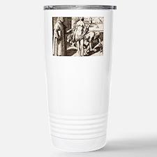Democritus, Greek philosopher Travel Mug