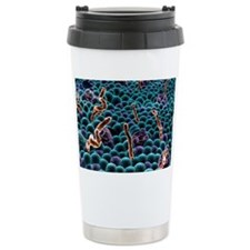 Cell membrane, artwork Travel Coffee Mug