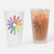 Hex color wheel Drinking Glass