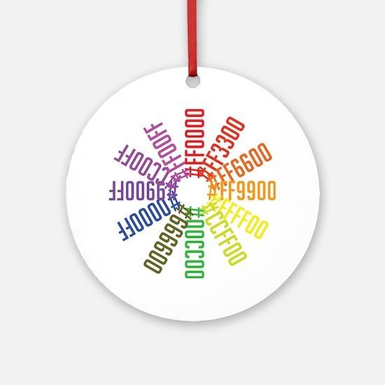 Hex color wheel Round Ornament