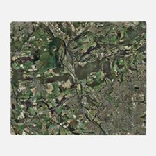 Cardiff, aerial photograph Throw Blanket