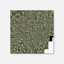 "Cardiff, aerial photograph Square Sticker 3"" x 3"""