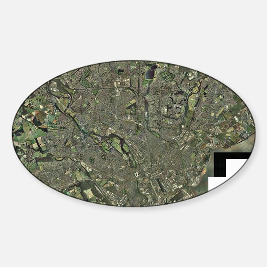 Cardiff, aerial photograph Sticker (Oval)