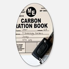 Carbon ration book for driving Decal