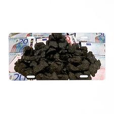 Carbon trading, conceptual  Aluminum License Plate
