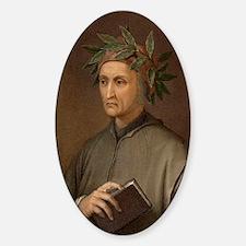 Dante Alighieri poet wrote Divine C Decal