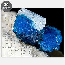 Cavansite and stilbite crystals Puzzle