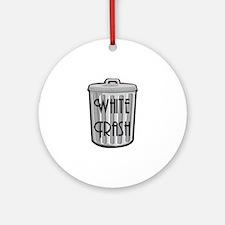 White Trash Ornament (Round)