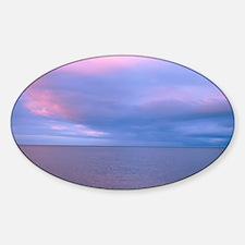 Calm sea Sticker (Oval)