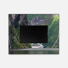 Cruise ship in a fjord, Norway Picture Frame