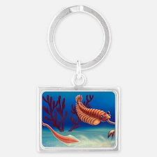 Cambrian animals, artwork Landscape Keychain