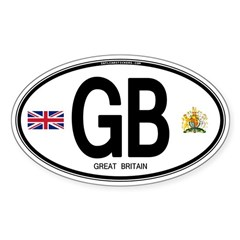 Great Britian (GB) Euro Oval Decal