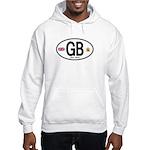 Great Britian (GB) Euro Oval Hooded Sweatshirt