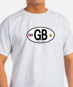 Great Britian (GB) Euro Oval T-Shirt