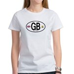 Great Britian (GB) Euro Oval Women's T-Shirt