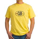Great Britian (GB) Euro Oval Yellow T-Shirt
