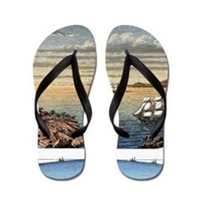 Curvature of the surface of the sea Flip Flops