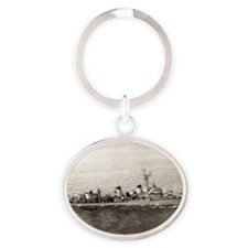 uss jarvis rectangle magnet Oval Keychain