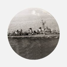 uss jarvis framed panel print Round Ornament
