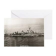uss jarvis large framed print Greeting Card