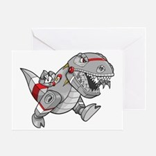 Dinosaur Robot Greeting Card