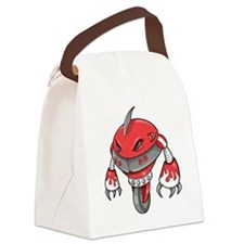 Red Robot Canvas Lunch Bag