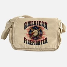 American Firefighter Lightning Messenger Bag
